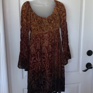 NWT Boston Proper boho jacquard style dress 4